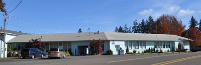 Mitchell School is located on a bluff overlooking scenic Bridge Creek in  the small ranching and retirement community of Mitchell, Oregon.